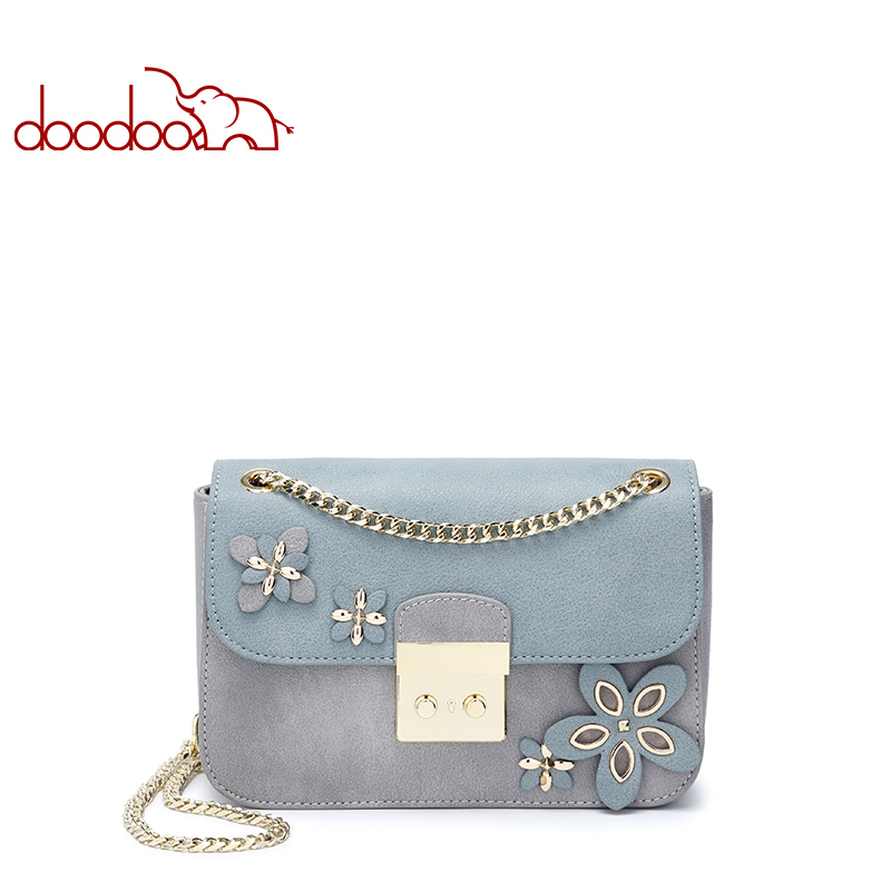 DOODOO Fashion Chain Small Flap bag PU Leather Crossbody Bags Women Wild Shoulder Brand Design Lady Messenger Bag Handbags 2017 new simple mini women shoulder bag fashion chain messenger bags high quality pu leather cross body for lady small bag