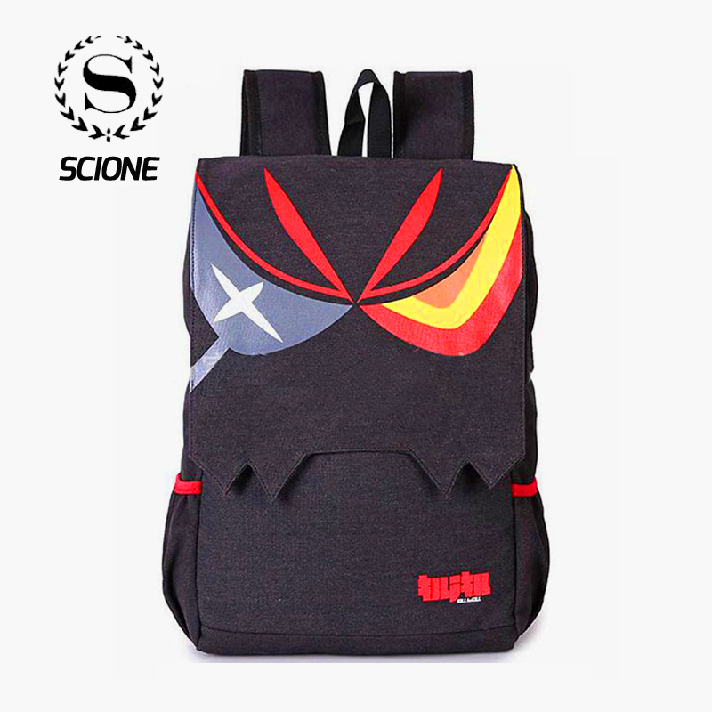Cartoon Manga Kill La Kill Backpacks Anime Matoi Ryuuko Black Large Capacity Men And Women Ourdoor Casual Travel Backpack 561t