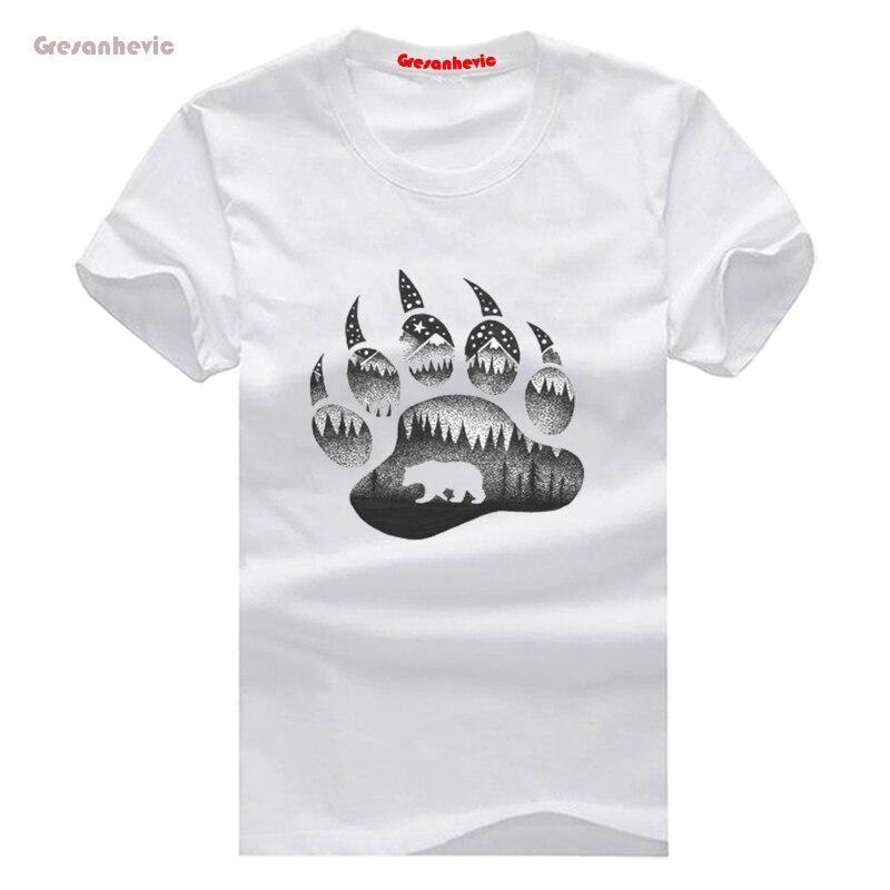 e396a3891c ESPÍRITO URSO Camisetas de Algodão dos homens Novos da Forma t shirts Homem  Roupa Por Atacado