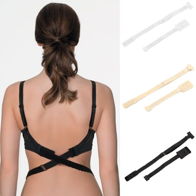 b0e3704442f65 Fashion Women Sexy Smart Adjustable Low Back Backless Bra Strap Adapter  Extender Hook Underwear Accessories