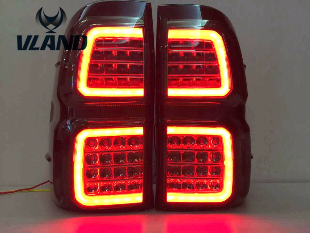 Free shipping Vland car styling rear lamp for Hilux Vigo Revo rear lamp LED DRL+ BRAKE +PARK+SINGAL stop signal 2 pc free shipping rear sticker hilux for toyota hilux vigo revo