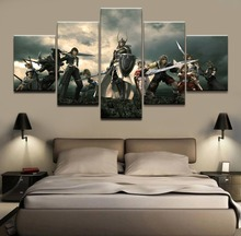 Canvas HD Printed Wall Art Poster 5 Pieces Game Final Fantasy Character Painting Home Decorative Modular Pictures Living Room