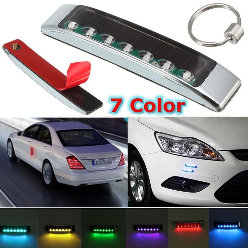 1set Wireless Car Solar LED Strobe Warning Light Flash Emergency Side Signal Blinker