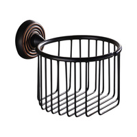 Antique Black Toilet Roll Holder Brass Bathroom Round Bathroom Toilet paper holder Bathroom Accessories