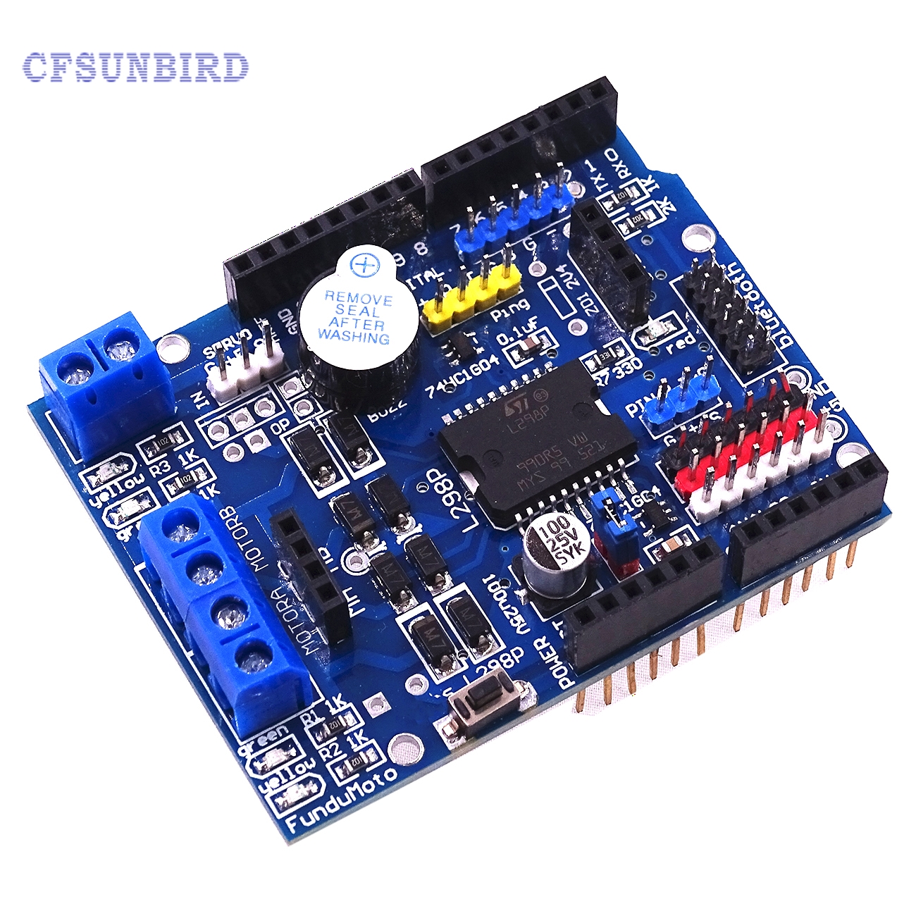 L298P PWM Speed Controller Dual High-Power H-bridge Driver ,Bluetooth Interface, L298P Motor Shield Board for Arduino  dc 12v 24v 36v 2 way pwm motor driver board module 450w high power controller