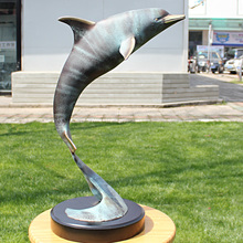 diving bronze statue of marine dolphins wedding housewarming business gifts Home Furnishing home decoration