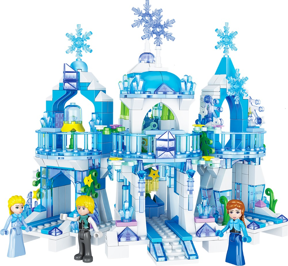 Lepin Elsa Anna Ice Dream Romantic Castle 25002 Model Building Blocks Christoph Princess Castle 25006 set LegoING Friends bricks