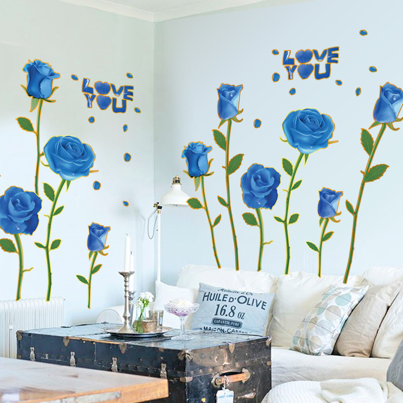 Detail Feedback Questions About Blue Roses Wall Stickers Love Quote