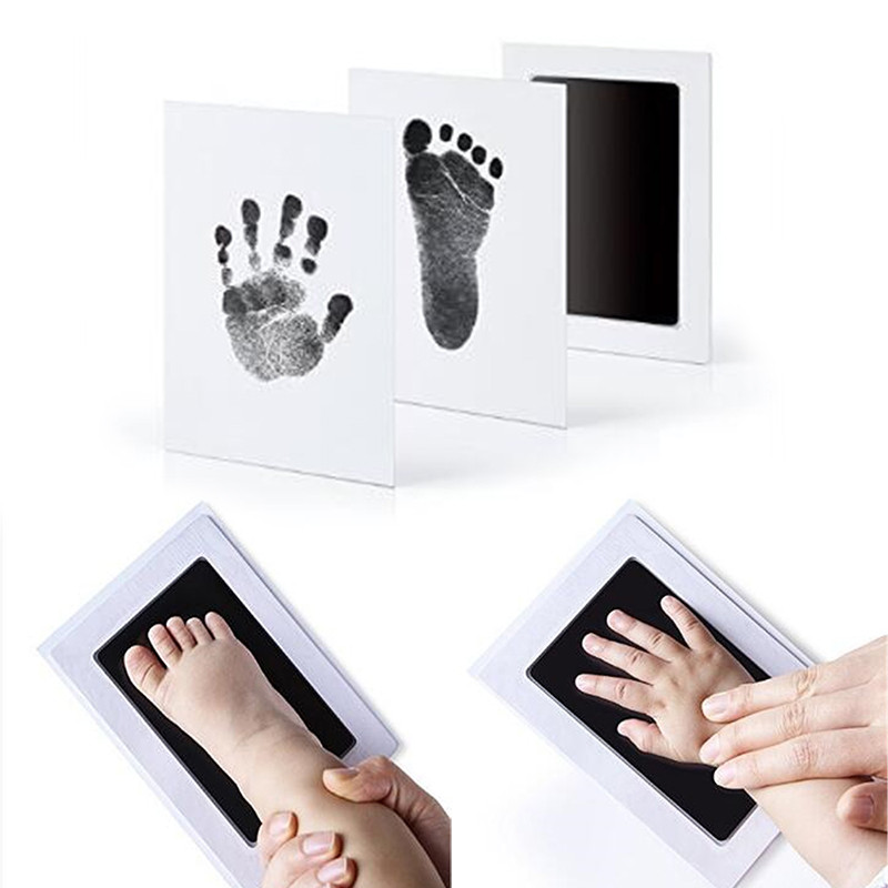 Love Baby 100% Non-Toxic Baby Handprint Footprint Imprint Kit Baby Souvenirs Ink Pad Gift For Newborn Baby