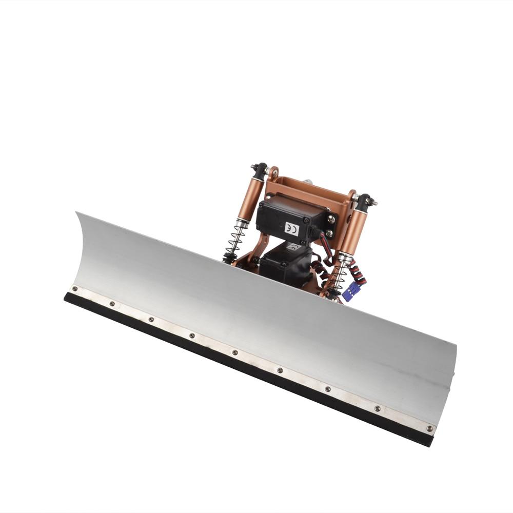RC Car Aluminium Alloy Snow Shovel And Servo Snow Sweeping Tools for Traxxas TRX4 TRX-4 1:10 RC Crawler Car servo and battery forward conversion kit for traxxas trx 4 truck