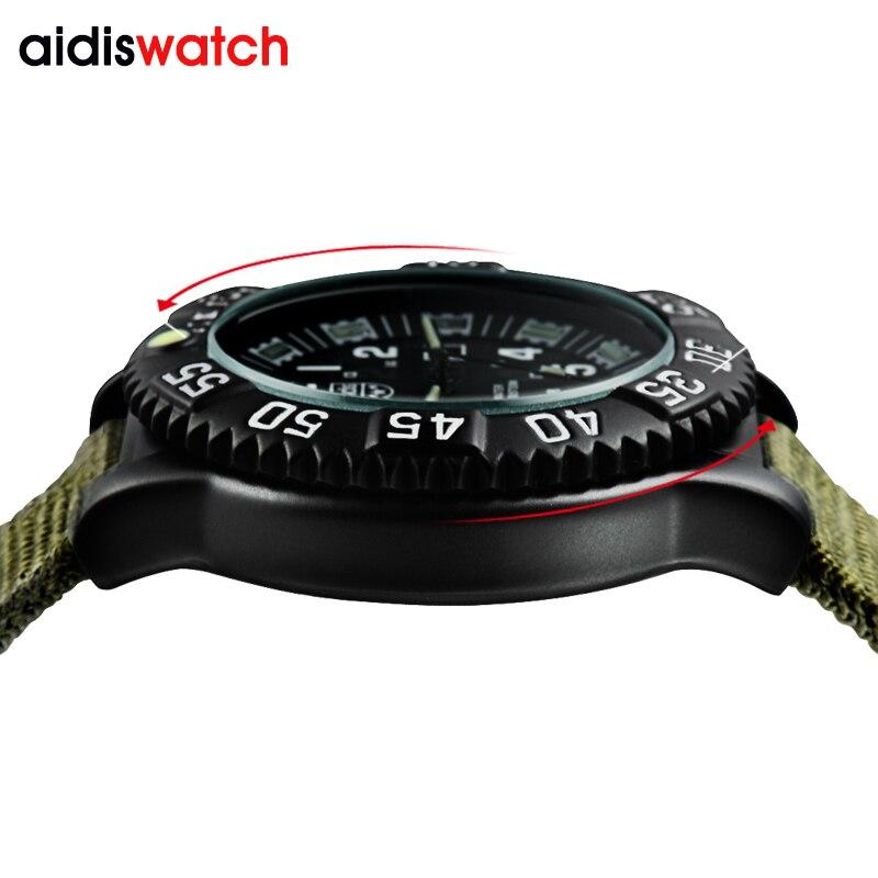 Outdoor Sports Watches Luminous waterproof super shock resistant fashion quartz sport wrist watch comfortable canvas watchband in Quartz Watches from Watches