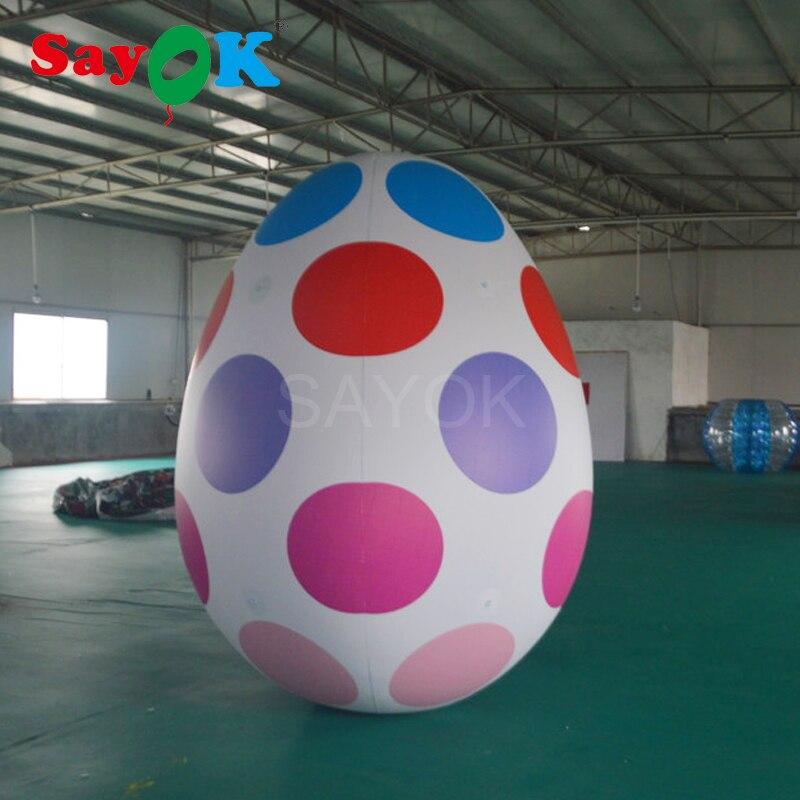 Oeuf de pâques gonflable de PVC de 2.5mH/ballon gonflable de boule d'oeuf de Kinder à vendre