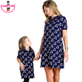 Campure 2016 Mother and Daughter Dresses Baby Girls Sweaters Dress Cherry Family Matching Outfits Dress Women Sweaters Dresses