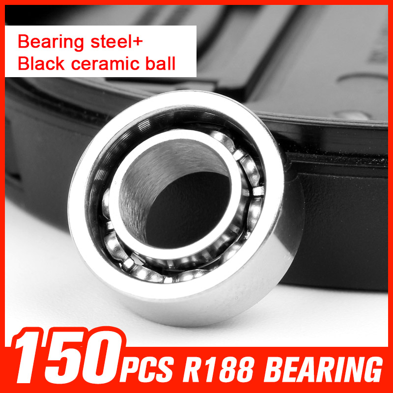 150pcs R188 Bearing Steel Ceramic Ball Bearings for Skateboard Hand Top Spinner Drift Board Toy Hardware Tool Accessories 50pcs 608 stainless steel black ceramic ball bearing for handspinner drift board skateboard finger gyro toy hardware accessories
