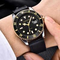 CURDDEN Fashion Luxury Brand Men's Watch Leather Band Analog Quartz Round Wrist Men's Clock Business Simple Watches zegarek