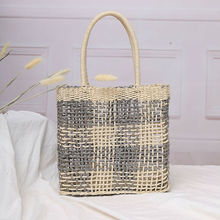 New Women Hand-Woven Rattan Bag Lady Straw Purse Wicker Crossbody Beach Vintage Retro Rope Knitted Handbag Fresh Summer