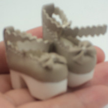 8 BJD Doll shoes high heel with butterfl