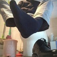 SORRYNAM High Quality Men S Business Silk Socks For Man Brand Autumn Winter Black Socks Male