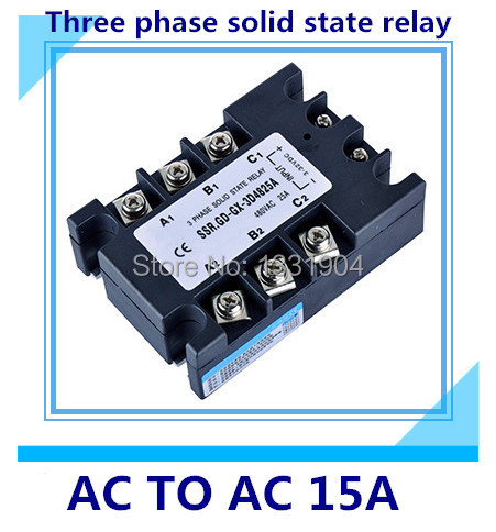good quality AC to AC SSR-3P-15 AA 15A SSR relay input 90-280V AC output AC380V Three phase solid state relay  цены