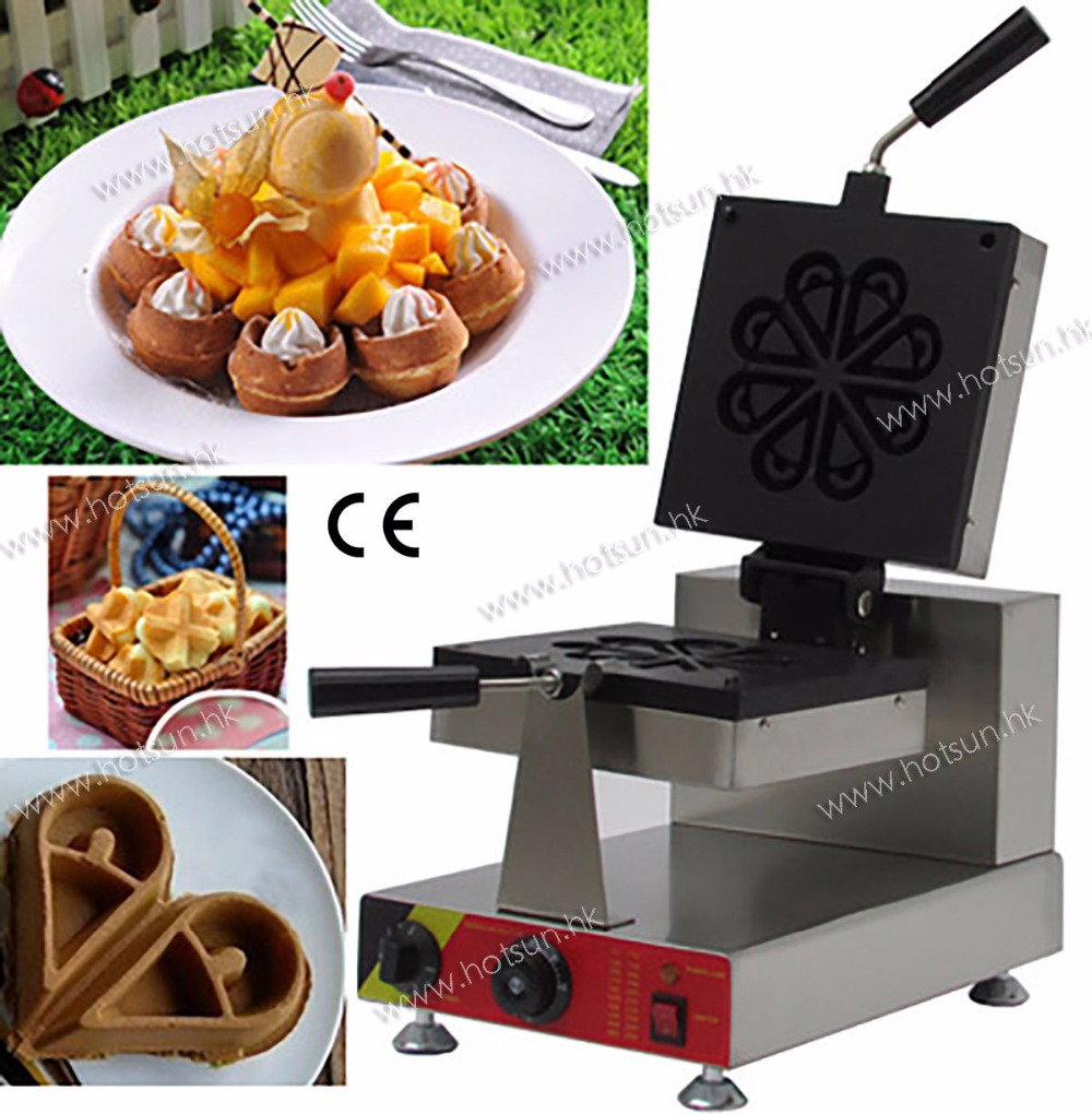 Commercial Non-stick 110V 220V Electric Rotating Teardrop Shape Ice Cream Waffle Maker Iron Machine edtid new high quality small commercial ice machine household ice machine tea milk shop