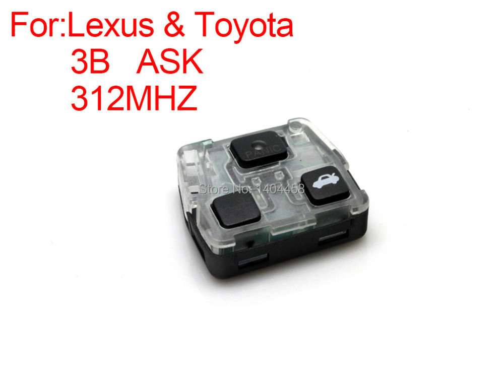High Quality remote key ASK 3 buttons 312MHZ for Lexus Free shipping