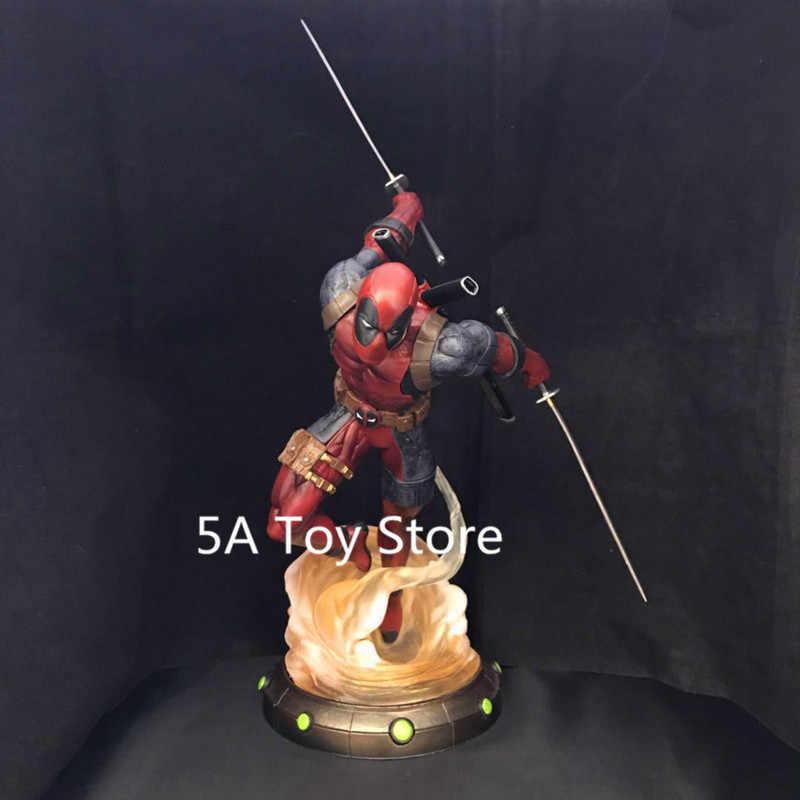 Бриллиантовый выбор игрушки Marvel галерея Дэдпул статуя ПВХ фигурка Коллекционная модель игрушки 35 см Retial Box