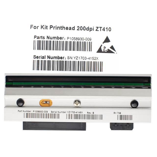 Yeni ZT410 baskı kafası Zebra ZT410 termal barkod yazıcı 203dpi P1058930 009 uyumlu