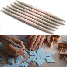 6 шт./партия силиконовая помадка для украшения торта цветок Моделирование ручка Sugarcraft цветок Моделирование Инструменты K092