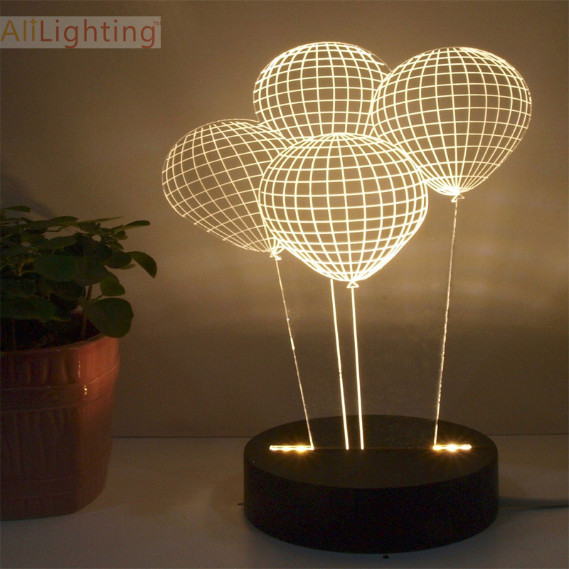 Table Lamps For Bedroom Ikea Ikea Lamp Shades For Table: Free Shipping Balloon 3D Lighting Table Lamp For Bedroom