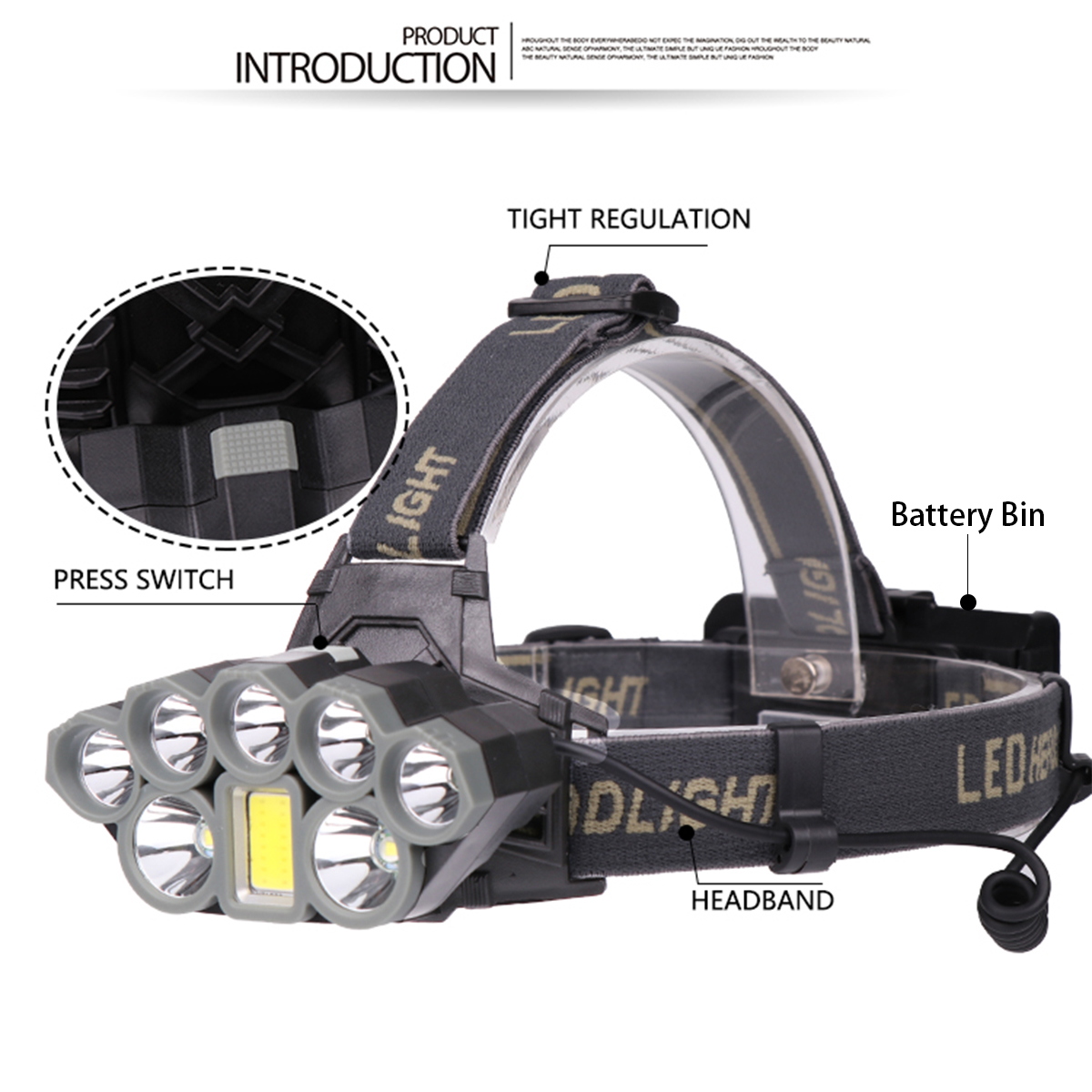USB Rechargeable 80000LM LED Head Lamp Flashlight Torch Headlamp18650 Battery