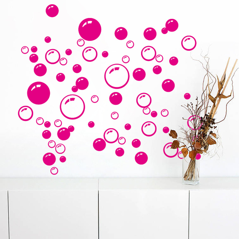 Colorful Circles Bubbles Wall Decal Sticker Window Glass Door Wall ...