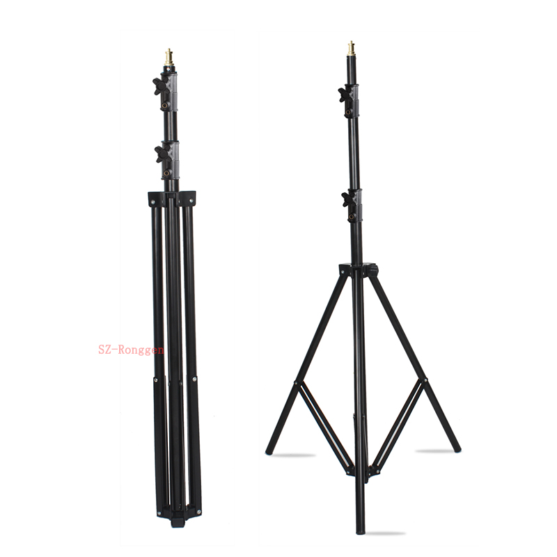 Studio fournitures 304 2 m lumière support 1/4 vis tête trépied support ressort lumière support pour Flash photographie lumière Softbox LED-in Lumière Stand from Electronique    2