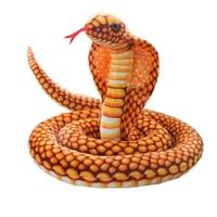 New 1PC 210cm Simulation King Cobra Snake Naja Nivea Plush Joke Toy Soft Stuffed Dolls Funny Gift Children Kids Party MD04