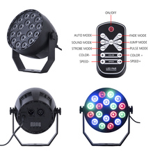 18W RGB led par spot light holiday lamp can be used in your stage/party/disco/event/dj/Christmas/shop decoration
