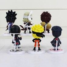 6 Piece Set Naruto Action Figure Kakashi Sakura Sasuke
