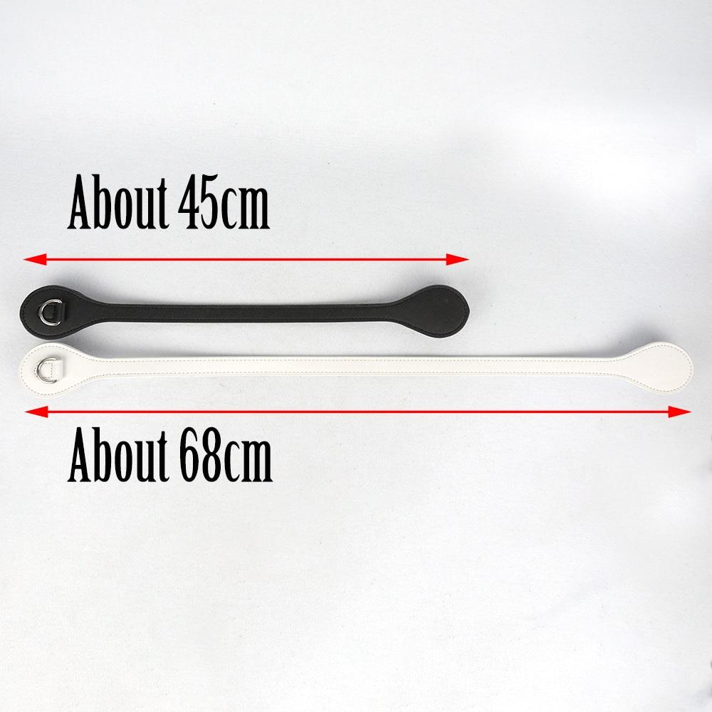 Image 3 - Tanqu flat Short Long handles Edge Painting D Buckle Faux Leather Handles for Obag Handles for EVA O Bag flat handleBag Parts & Accessories   -