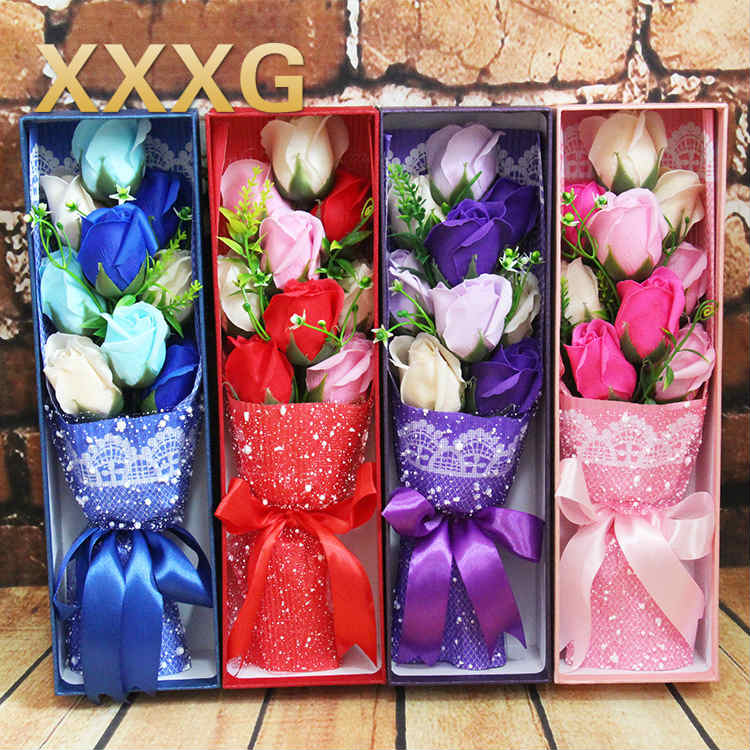 XXXG//9 Flower Flower Soap Gift Promotional Gifts Factory