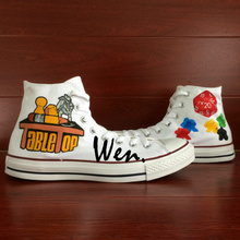 Wen White Original Hand Painted Shoes Design Custom Game Tabletop Men Women's High Top Canvas Sneakers for Gifts