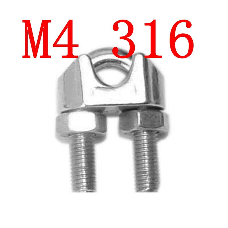 ツ)_/¯M4,4mm Drop Forged Wire Rope Stainless Steel Clips,SS 316 ...