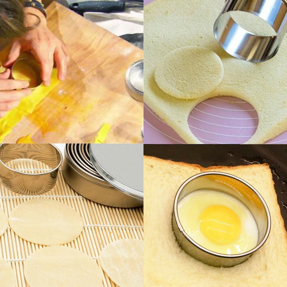 biscoito cortadores de biscoito círculo cortadores pastelaria