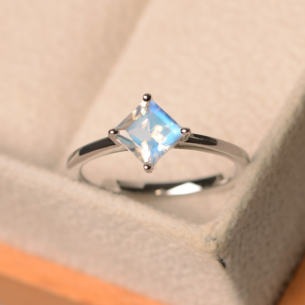 wedding rings vintage antique moonstone 925 sterling silver white crystal zircon women bohemia jewelry