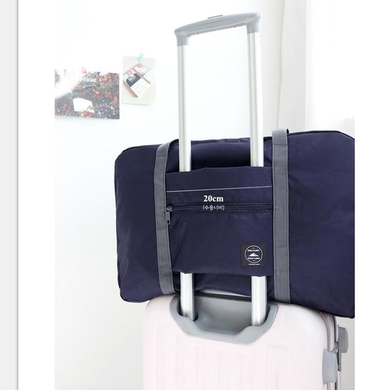 IUX New Fashion Large Capacity Bag Kvinnor Nylon Folding Väska Rese - Väskor för bagage och resor - Foto 3