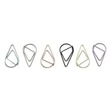 6 kolorów Mini Raindrop shape metalowe proste zakładki Folder zdjęć piękne zakładki spinacz 600 sztuk/zestaw