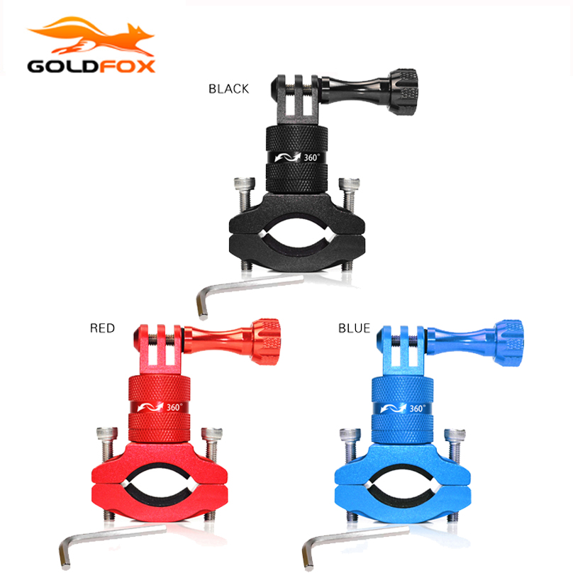 High Quality Aluminum Handlebar Holder for GoPro Hero 4 3+ 3 2 1 Sport Action Camera Holder Bike Bicycle Stand Holder Cam Mount