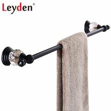 Leyden Orb acabado cristal toalla sola barra de toalla percha negro montado  en la pared baño toallero Accesorios 7ac5e1f9b5f5
