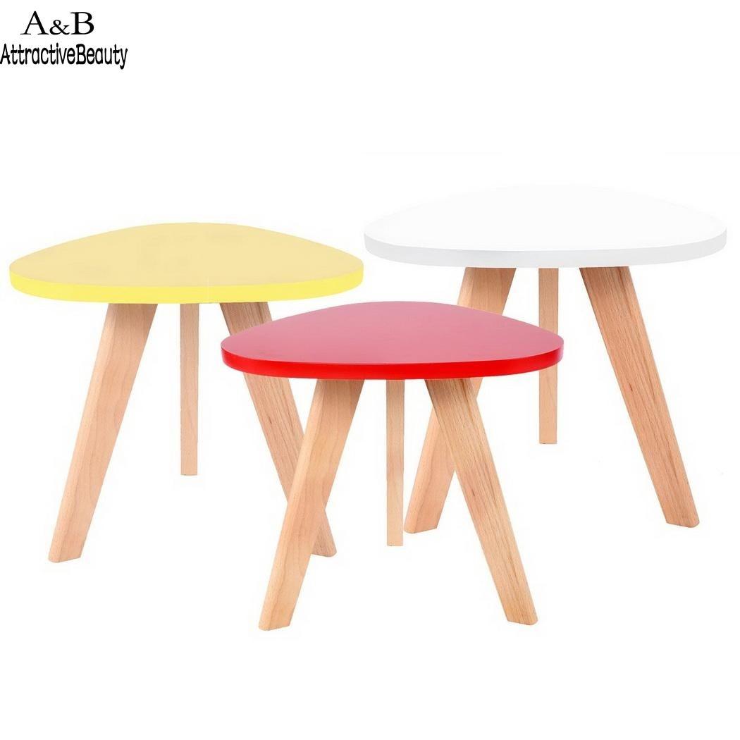 Homdox Mini Triangle Side Table Coffee Tea Table Living Room Balcony - Triangle picnic table