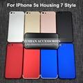 6 colores nuevo estilo cubierta trasera para iphone 5s como 7 7 mini vivienda marco medio cubierta de la batería