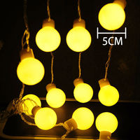 NEW Waterproof 5m LED 5cm ball Garland strings christmas lights sale year holiday party wedding luminaria decoration lamps