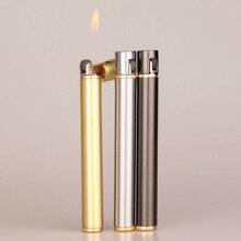 Fashion Creative Mini Cigarette- shape Lighters Butane Flame Lighter Metal Torch cigar Lighter Novel
