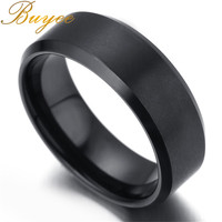 BUYEE Punk Rock Style Black Color Ring Mens Fashion Chunky Finger Bling Hip Hop Ring Size